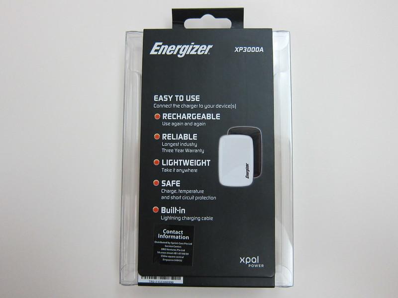 Energizer XP3000A - Box Back
