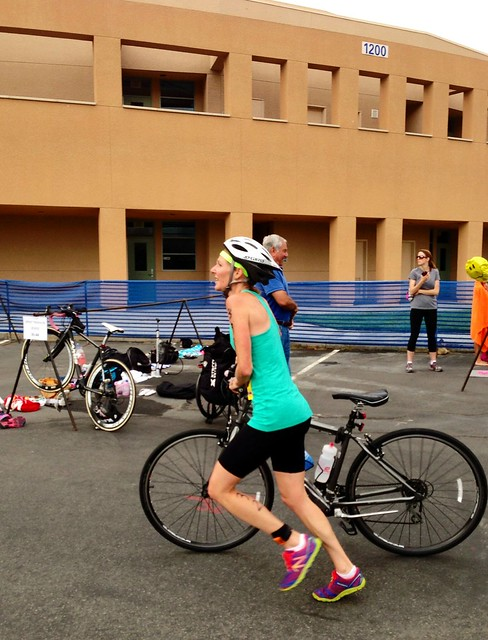 @stridingmom at T2 at the 2013 iTRYathlon