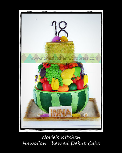 Norie's Kitchen - Hawaiian Debut Cake by Norie's Kitchen