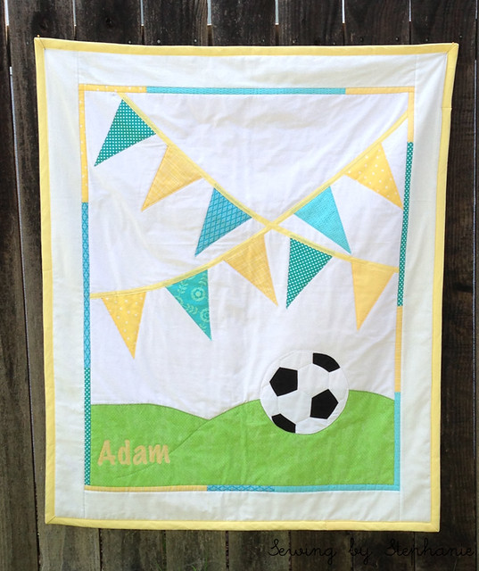 Soccer Bunting Quilt