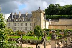 Renaissance Chateau de Villandry with its medieval keep