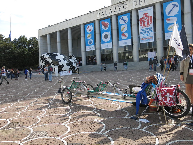 Entrance of the Maker Faire in Rome