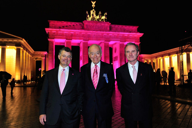 William P. Lauder, Leonard A. Lauder and Fabrizio Freda at 2011 Bradenburg Gate