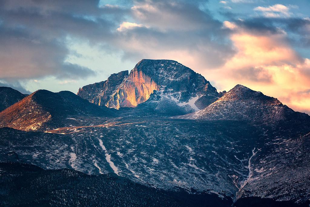 Daybreak on Longs Peak