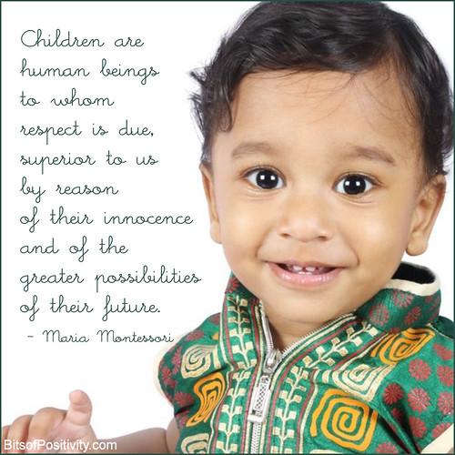 """Children Are"" Montessori Word Art Freebie"
