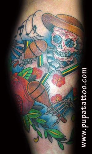 Tatuaje esquetelo Pupa Tattoo Granada by Marzia PUPA Tattoo