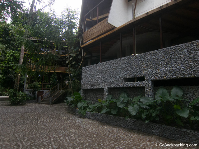 The Hotel El Refugio is where guests check-in, eat their meals, and book activities
