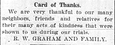 Graham Card of Thanks
