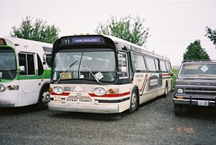 Ex Golden Gate Transit #893 at Ehli Auctions in Fife after retirement from Kitsap Transit...