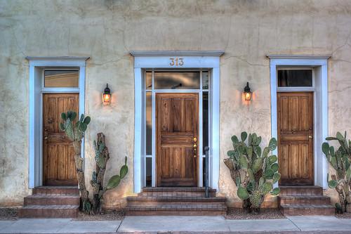 blue arizona cactus tucson woodendoors oldwest olddoor