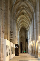 Side Aisle in the Church of St Ouen in Rouen