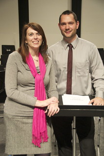 Wendy Higdon & Chris Grifa, con-director of bands at Creekside Middle School