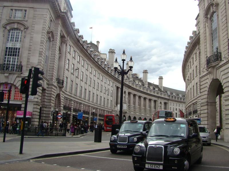 London cabs Regent Street