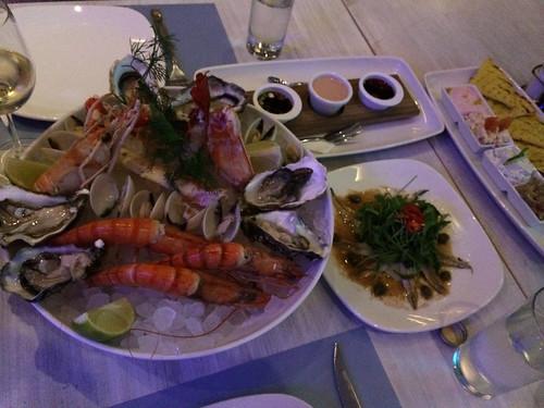 Seafood dinner at Malindi (St Raphael Marina, Limassol, Cyprus)
