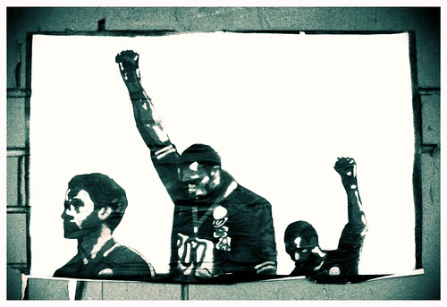 Street art: 1968 Olympics Black Power (human rights) salute