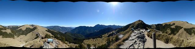合歡尖山視野全景圖