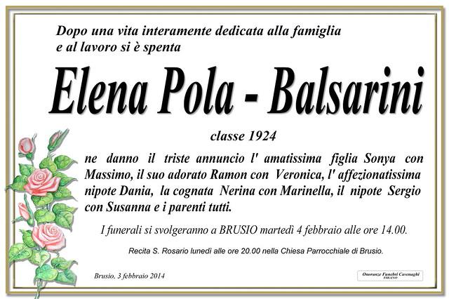 Balsarini Elena Pola
