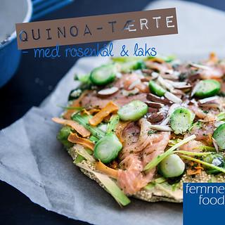 Quinoa-tærte med rosenkål og laks
