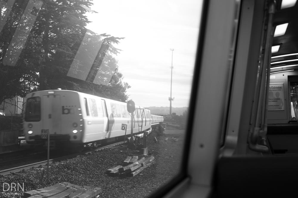 Train B&W.