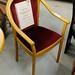 Beech framed wine fabric chair