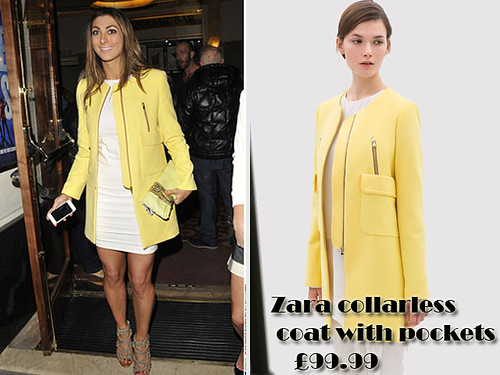 Collarless coat trends