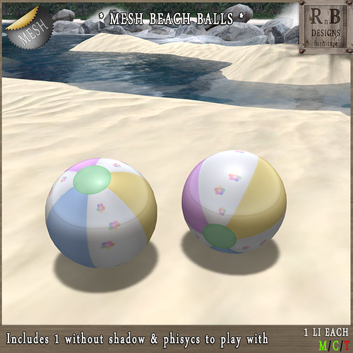 GIFT ! *RnB* Mesh Beach Balls - Flowers (copy)