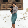 Princess Seam Pencil Skirt
