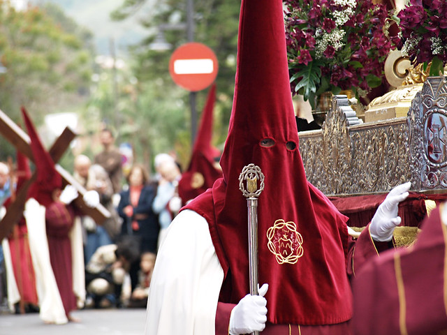 Scarlet and Cream Brotherhood, Magna Procession, Semana Santa, La Laguna, Tenerife
