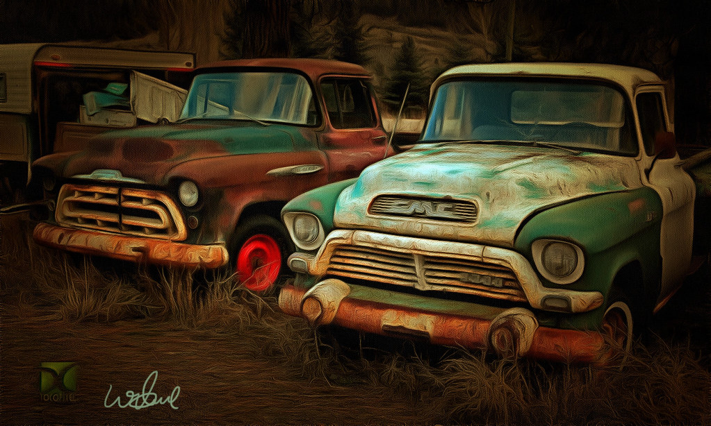Old Painted Steel
