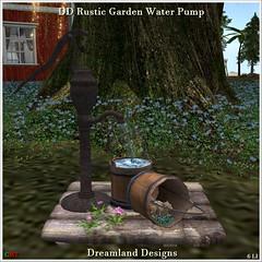 DD Rustic Garden Water Pump Vendor