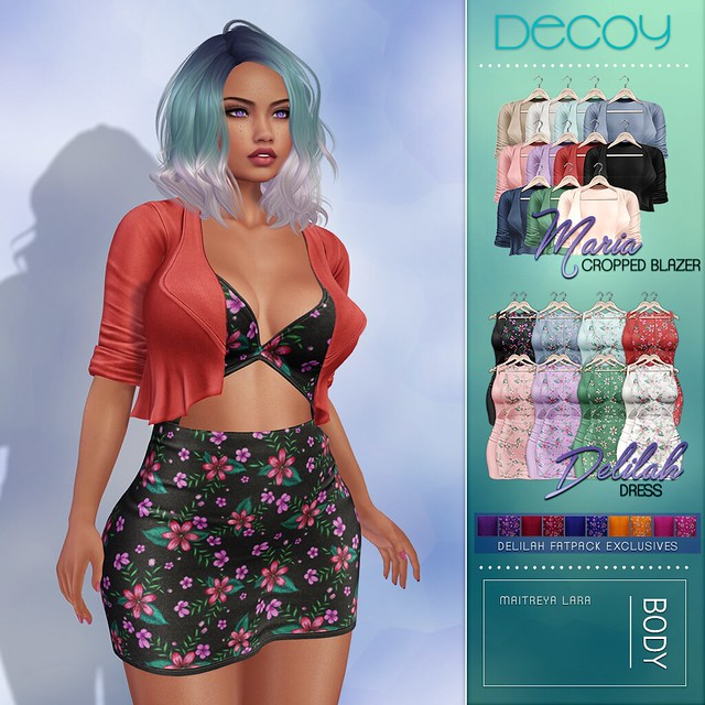 Decoy Maria Cropped Blazer and Delilah Dress