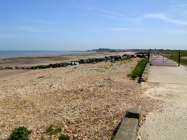 The coast west of Birchington-on-Sea