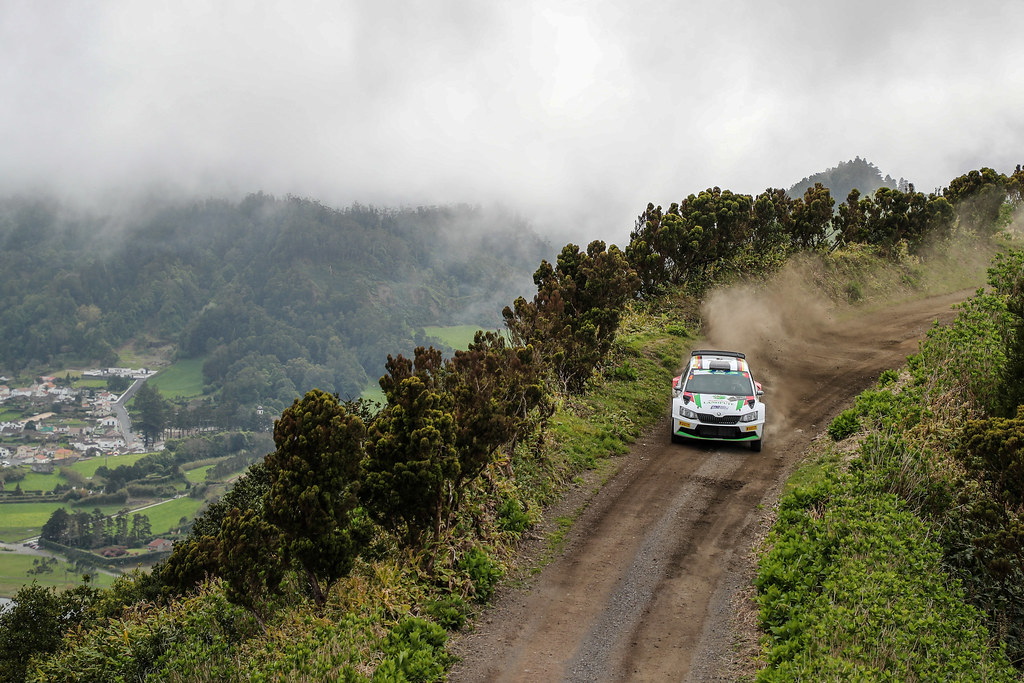 04 GRIEBEL Marijan KOPCZYK Stefan Skoda Fabia R5 Action during the 2017 European Rally Championship ERC Azores rally,  from March 30  to April 1, at Ponta Delgada Portugal - Photo Jorge Cunha / DPPI