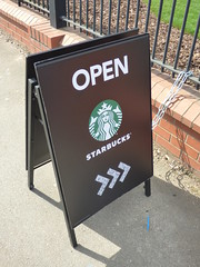 Starbucks Northfield - Open sign