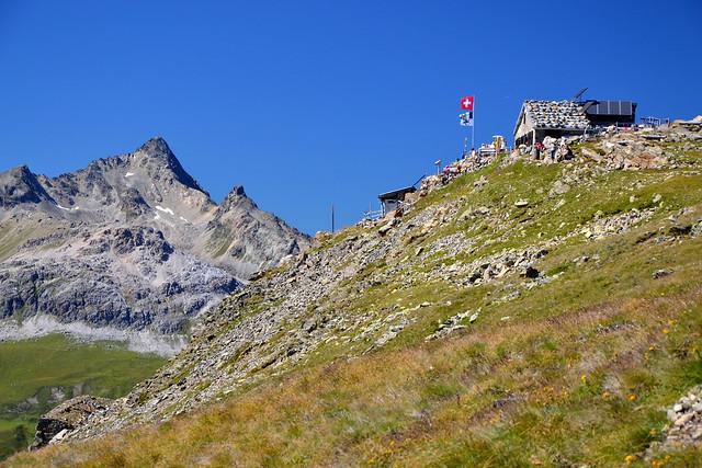 Segantini hut (2731 m) and Piz Ot (3246 m)