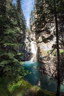Waterfall at Johnson Canyon - Banff National Park