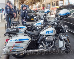 NYPD Highway Patrol Police Motorcycles, 2017 Yankees Home Opener at Yankee Stadium, The Bronx, New York City
