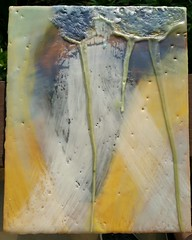 untitled encaustic and oil on wood