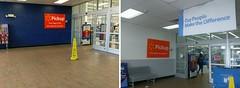 Grocery entrance vestibule