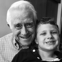 Popsie & Jackson #grandfather #grandson #Strouds #blackandwhite