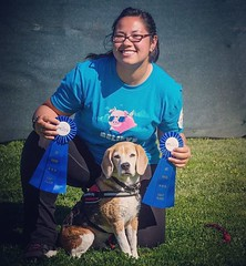 """Turns out all you need to do is """"BELIEVE""""! (See shirt) The Impossible Dog finally got a Level 2/3 QQ in World Cynosport Rally!! He hasn't gotten one since Oct 2015 and has just needed two more for his ARCHEX. Fingers crossed the Impossible Dog can put tog"""