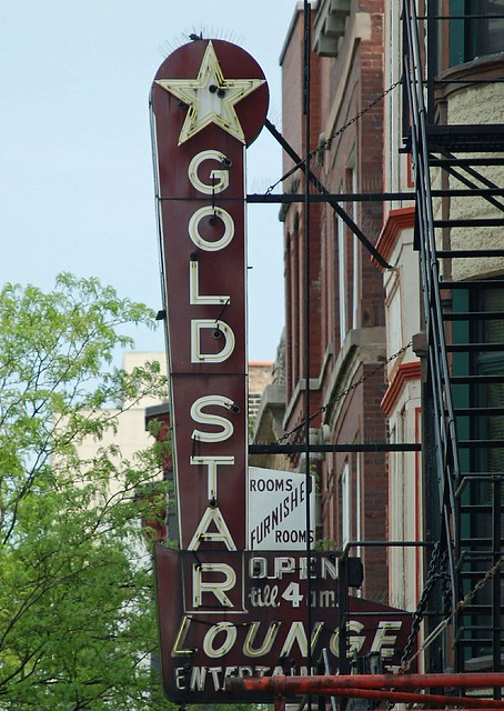 old sign on Division Street, Wicker Park neighborhood