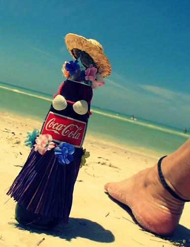 Retro beach Hula Girl