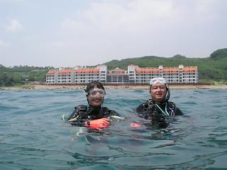 2009年莫拉克風災後兩周進行珊瑚體檢 中礁樣點距離飯店最近 照片潛水志工拍攝