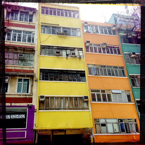 Coloured buildings #hongkong