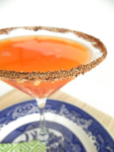 Carrot-tini and stuffed snap peas