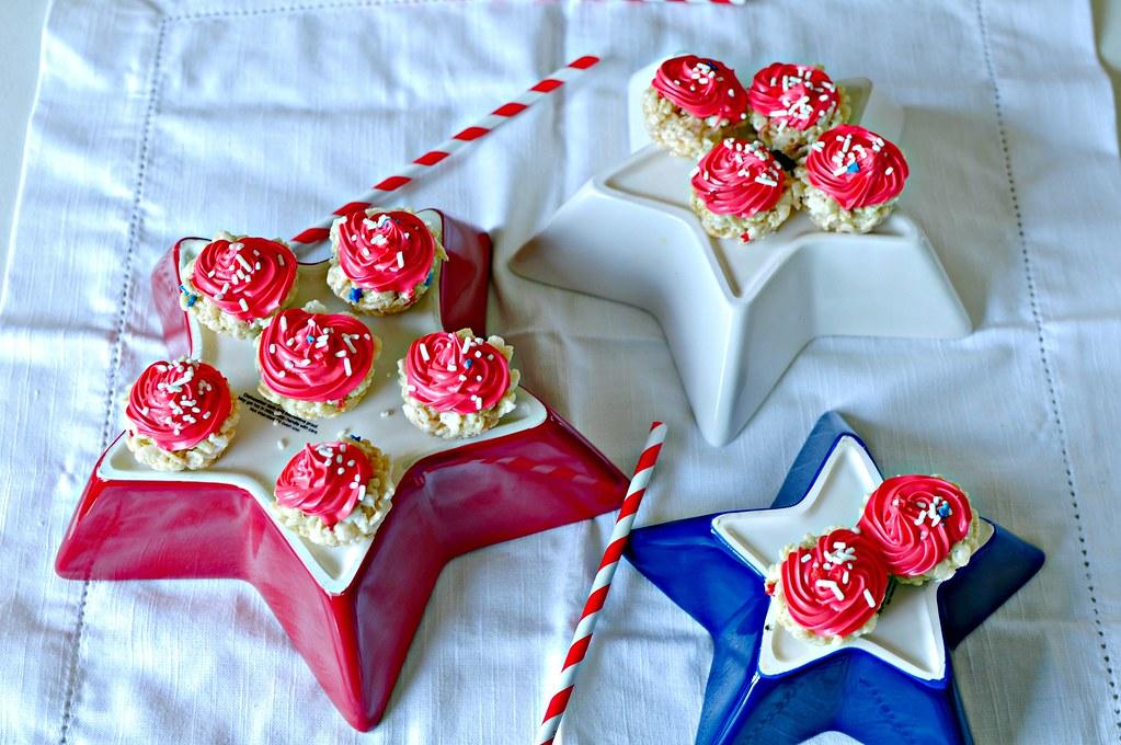 4th of July Rice Krispie Cupcakes 2