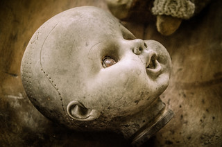 Creepy Baby Doll Head