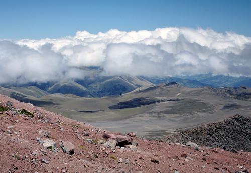 mountains southamerica clouds landscape volcano ecuador desert empty dry andes vast chimborazo sudamérica américadelsur