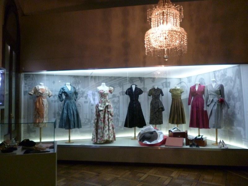 Evita's clothes in the Evita Museum.